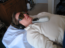 client undergoing laser treatment